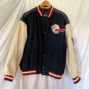 VINTAGE USA Steve & Barry's Varsity Jacket